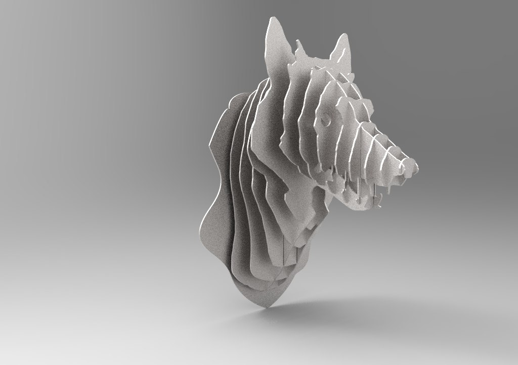 Laser Cut Wolf Trophy 3d Animal Head Free CDR Vectors Art