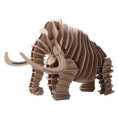 Mammoth 3d Puzzle Laser Cut Cnc Plans Free CDR Vectors Art