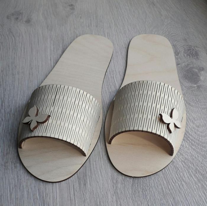 Laser Cut Slippers Free CDR Vectors Art