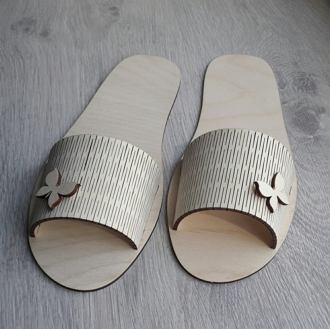 Laser Cut Slippers Free DXF File