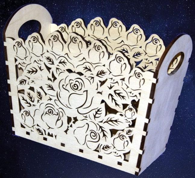 Laser Cut Models Flower Box Free CDR Vectors Art