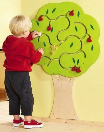 Laser Cut Project Tree Wooden Wall Toys For Kids Free CDR Vectors Art