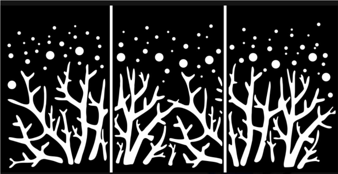 Decorative Laser Cut Wood Panels Free DXF File