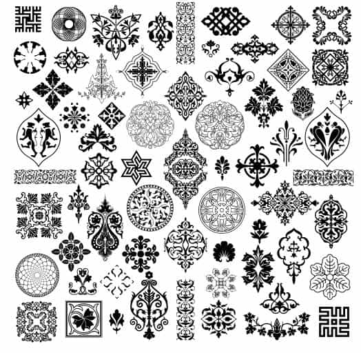 Simple Black And White Pattern Free CDR Vectors Art