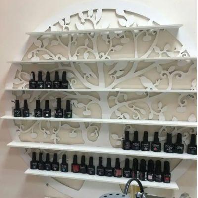 Wall Rack Shelf Nail Polish Laser Cut Free CDR Vectors Art