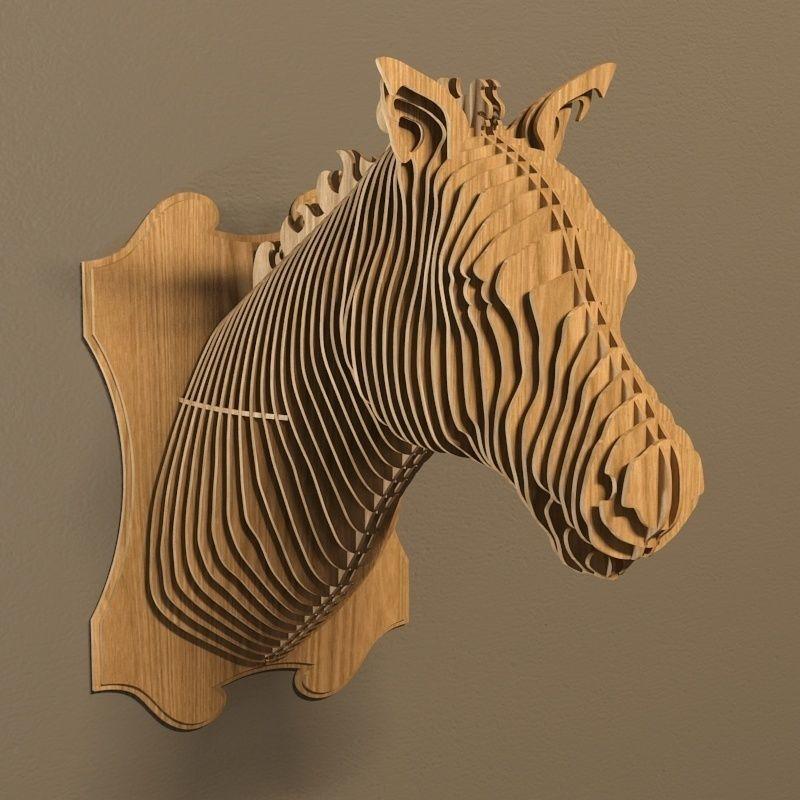 Cnc Laser Cut Horse Head Bbq Free DXF File