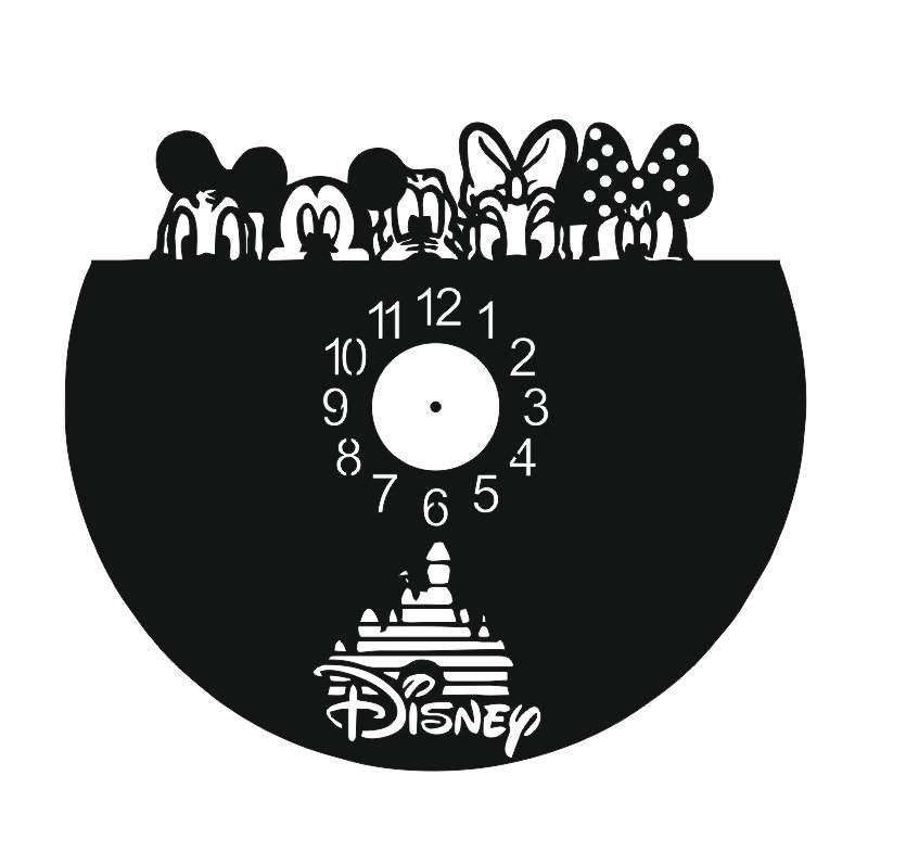 Chasiki Vinyl Record Wall Clock Laser Cutting Free CDR Vectors Art