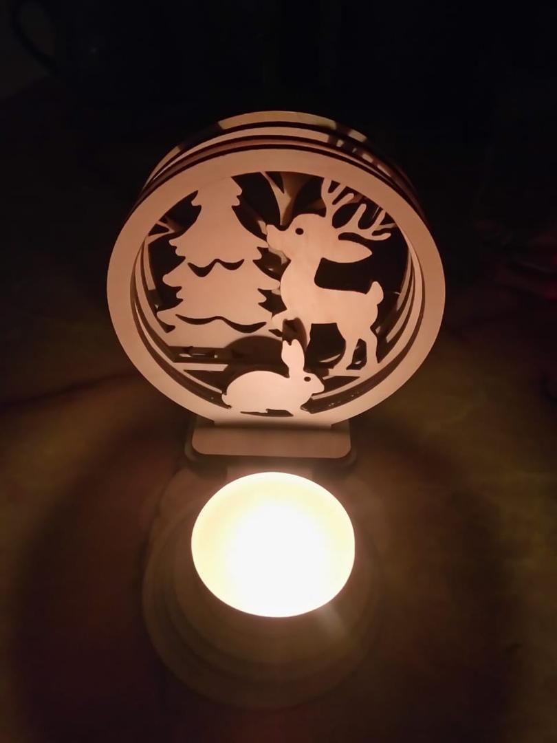 Laser Cut Animal Nightlight Lamp Free CDR Vectors Art