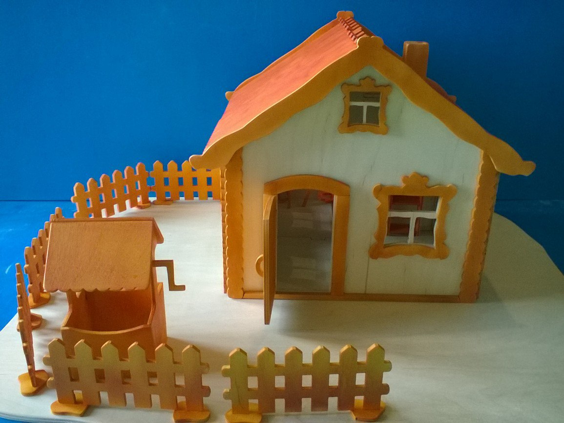 Laser Cut 3d House Free DXF File