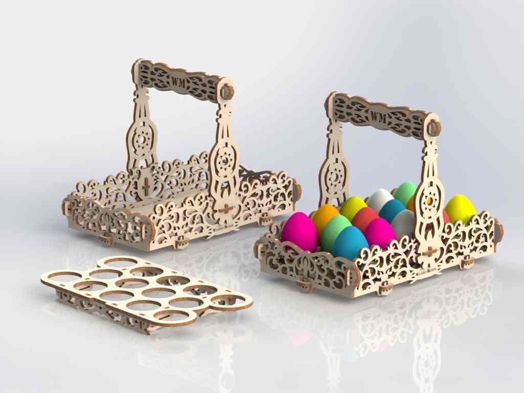 Laser Cut Basket Ideas Free DXF File