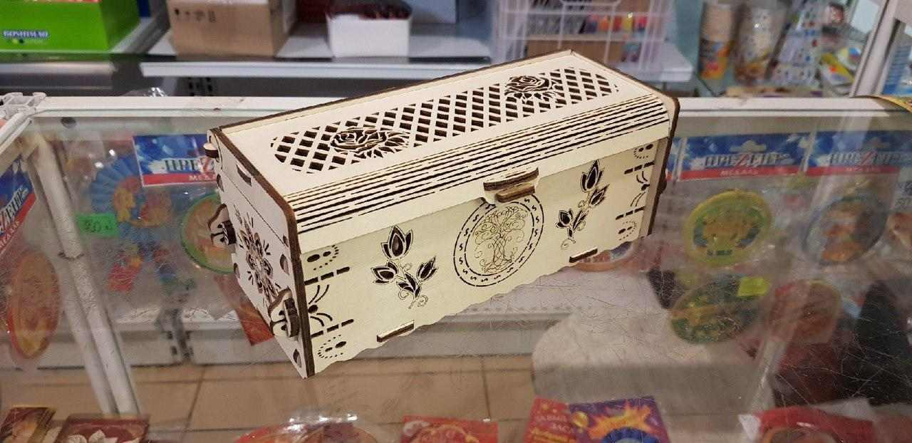 Laser Cut Beautiful Wooden Box Free CDR Vectors Art