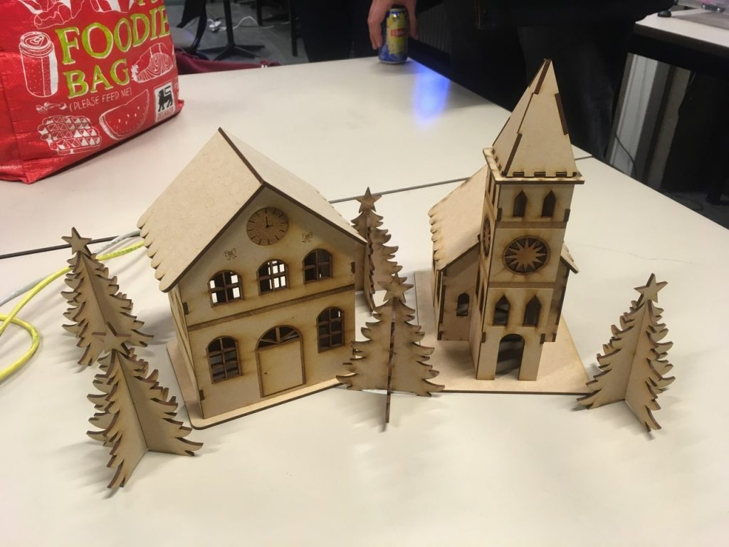 Laser Cut House Ornaments Free DXF File