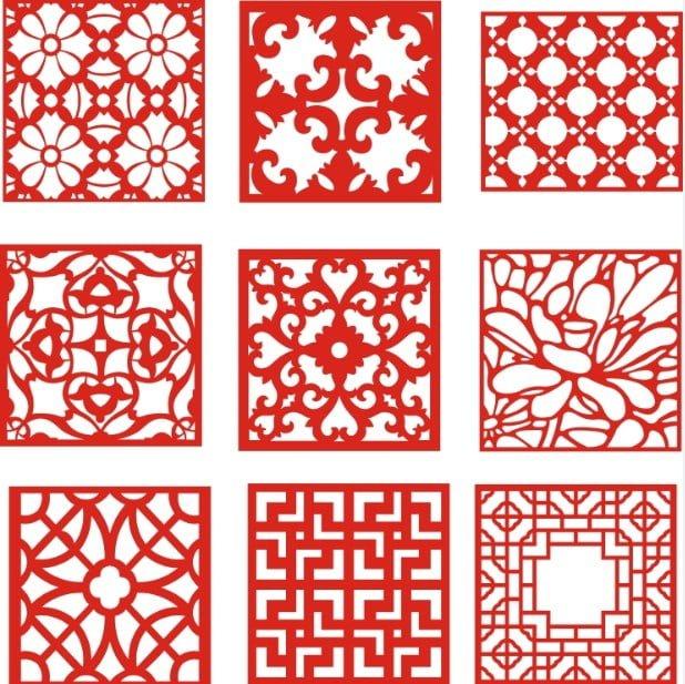 Laser Cut Pattern Screen 111 Free DXF File