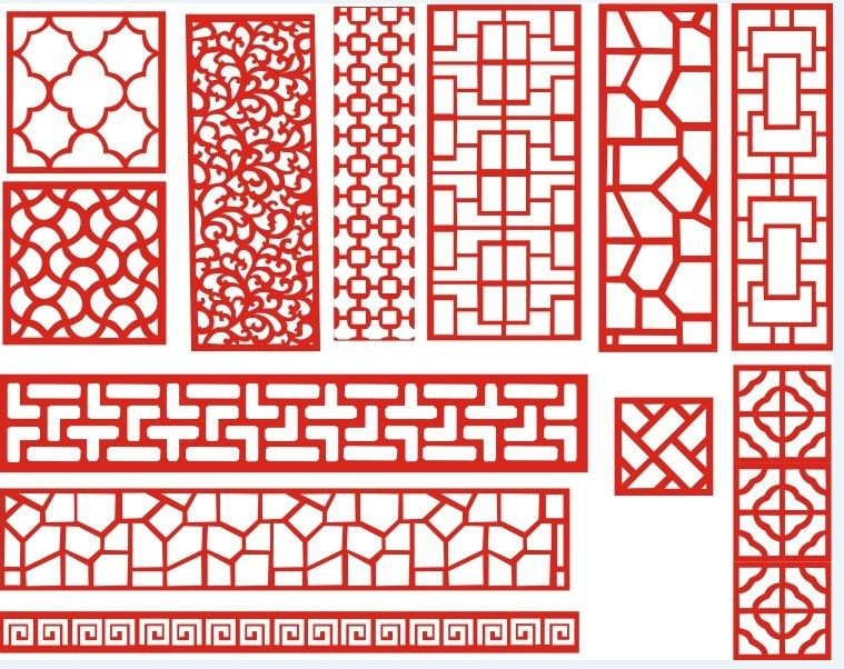 Laser Cut Pattern Screen 112 Free DXF File