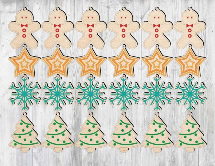 Laser Cut Snowflake Christmas Tree Free CDR Vectors Art