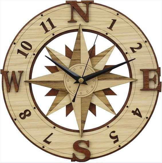 Laser Cut Wooden Clock Plans Free Download Free CDR Vectors Art
