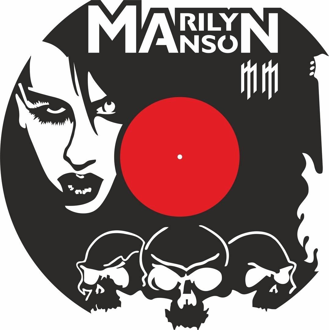 Merlin Menson Vinyl Record Wall Clock Laser Cutting Free CDR Vectors Art