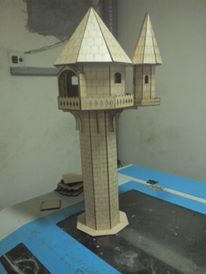 Laser Cut Wood Tower Design Free DXF File
