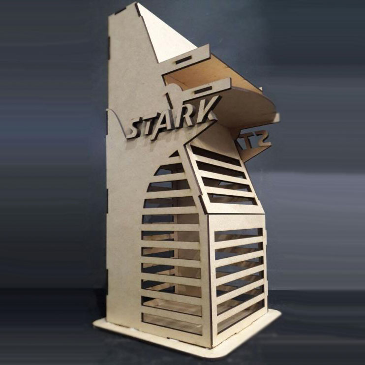 Stark Tower Laser Cutting Project Free CDR Vectors Art