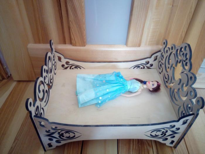 Laser Cut Doll Bed Free CDR Vectors Art
