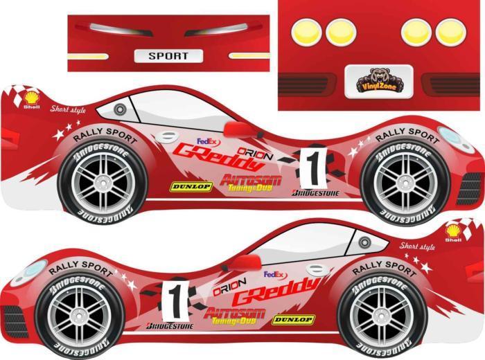 Laser Cut Krovatka Rally Sports Car Free CDR Vectors Art