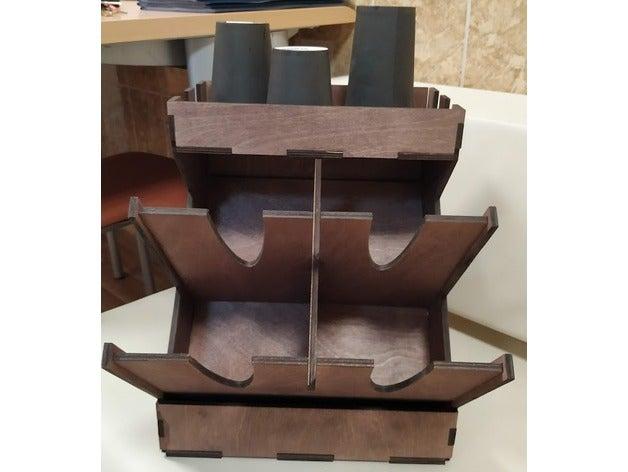 Laser Cut Wooden Coffee Box Free CDR Vectors Art