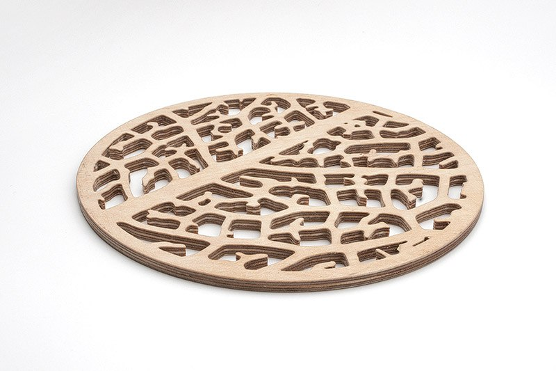 Cell Structure Trivet Cnc Free DXF File