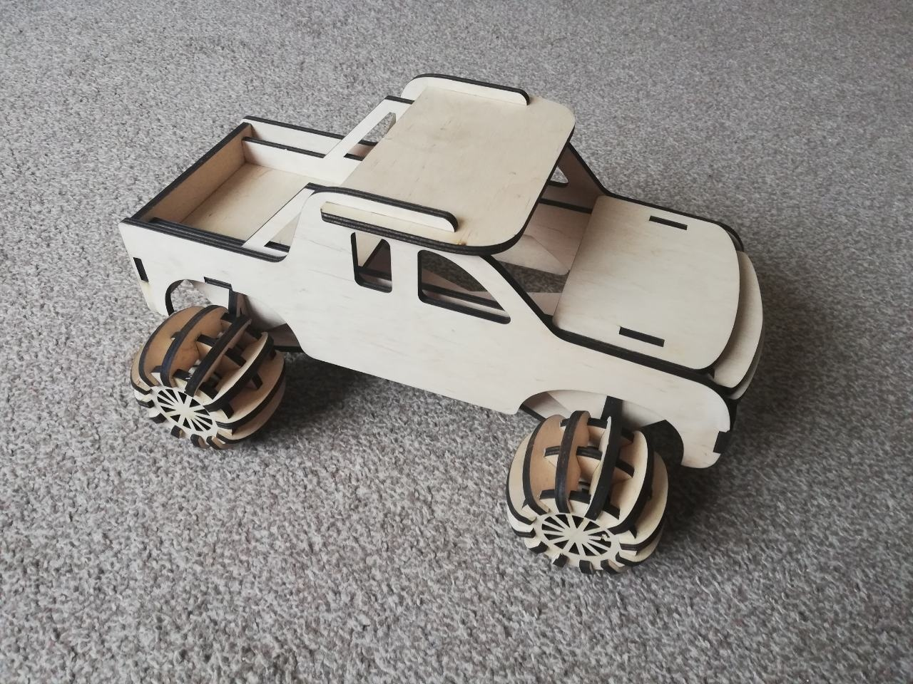 Child Rally Car 3mm Sheet For Laser Cutting Free CDR Vectors Art