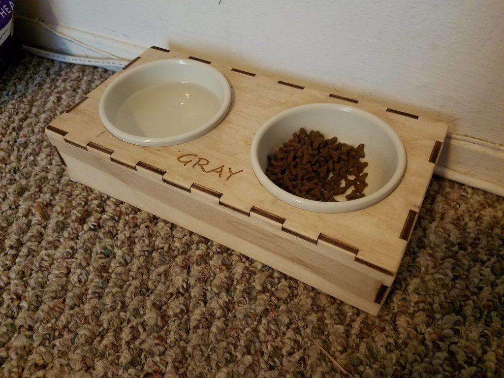 Laser Cut Cat Dish Free CDR Vectors Art