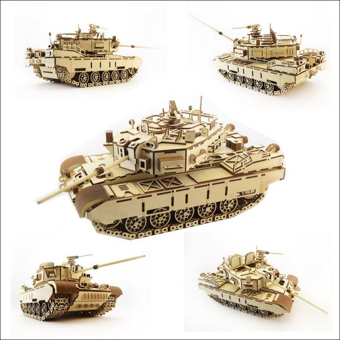 Laser Cut File 3d Puzzle Vector Tank Kayman Free CDR Vectors Art