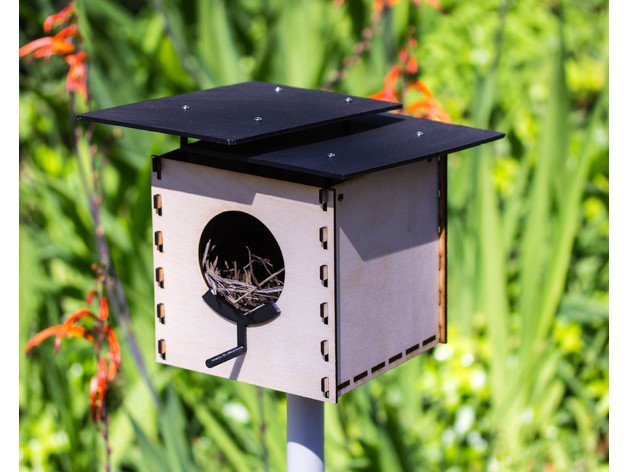 Modern Birdhouse For 3d Printer Lasercutter Free CDR Vectors Art