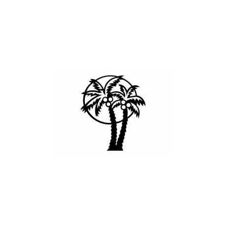 Palm Tree silhouette Free DXF File