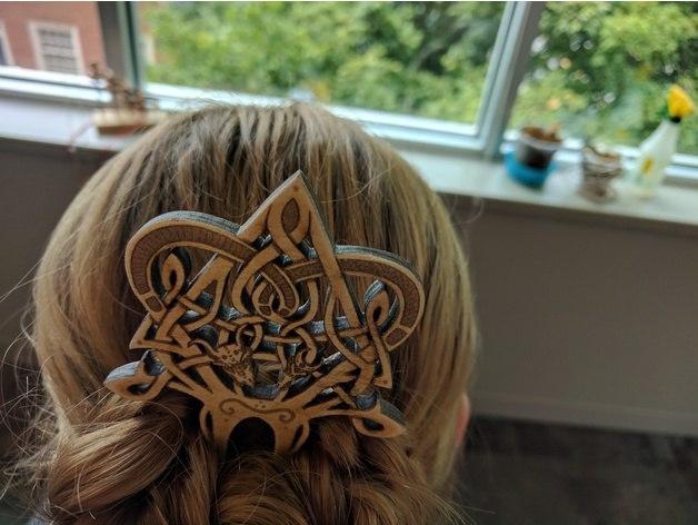 Laser Cut Patterned Hair Pin Free CDR Vectors Art
