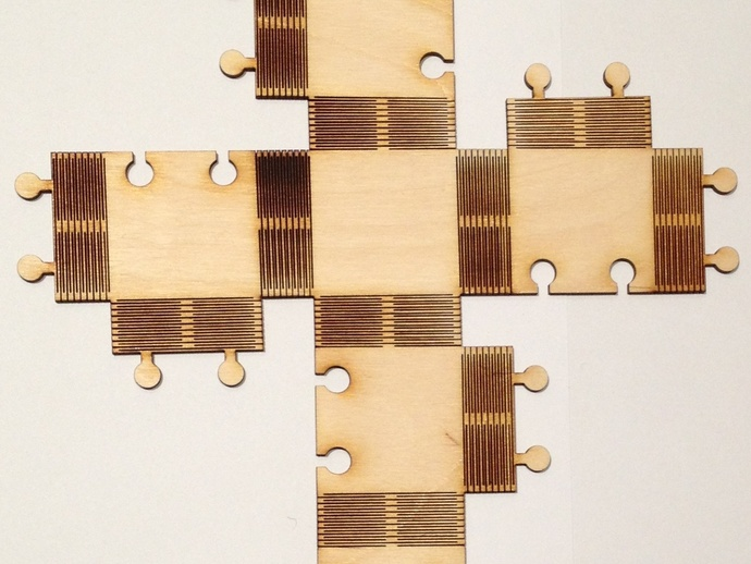 Cnc Cut Lattice Hinge Plywood Free DXF File