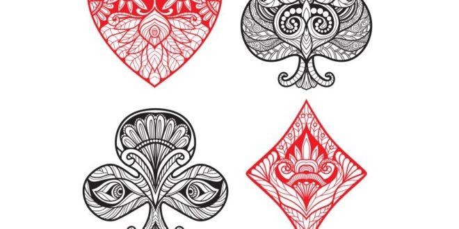 Playing Cards Suits Free DXF File