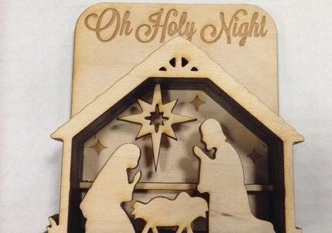 Presepe Laser Cut Wooden Nativity Scene Free DXF File