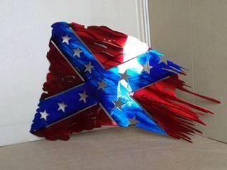 Rebel Tattered Flag Free DXF File