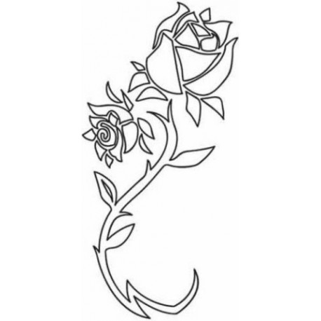 Rose Flower Abstract Design Free DXF File