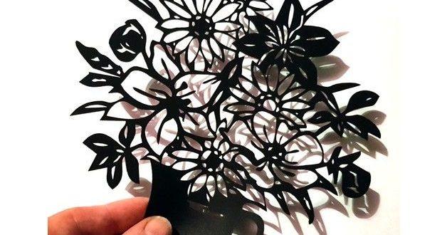 Silhouette Flower Bouquet Free DXF File