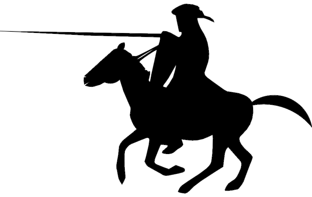 Silhouette Horse Man Free DXF File