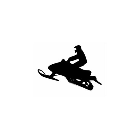 Silhouette Of Snowmobile Free DXF File