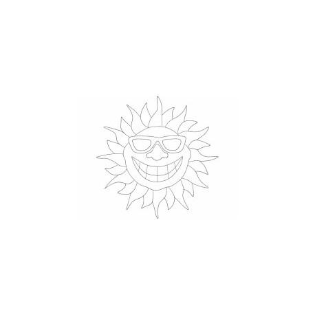Smile Sun Free DXF File