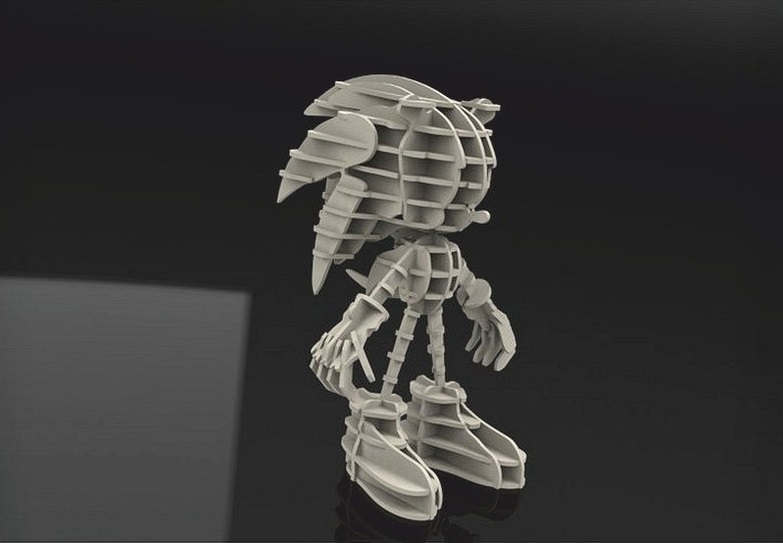 Sonic 3mm Free DXF File