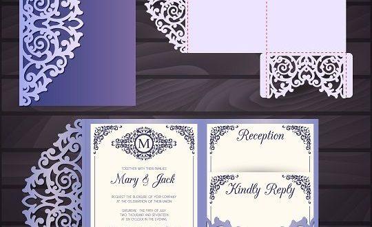 Laser Paper cutting Postal Cards Wedding Free DXF File