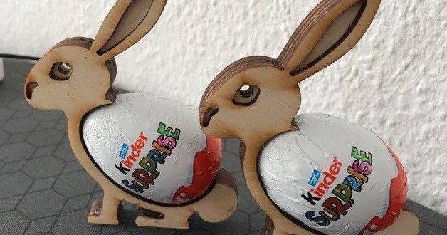 Template Laser Cnc Cut Easter bunny Free DXF File
