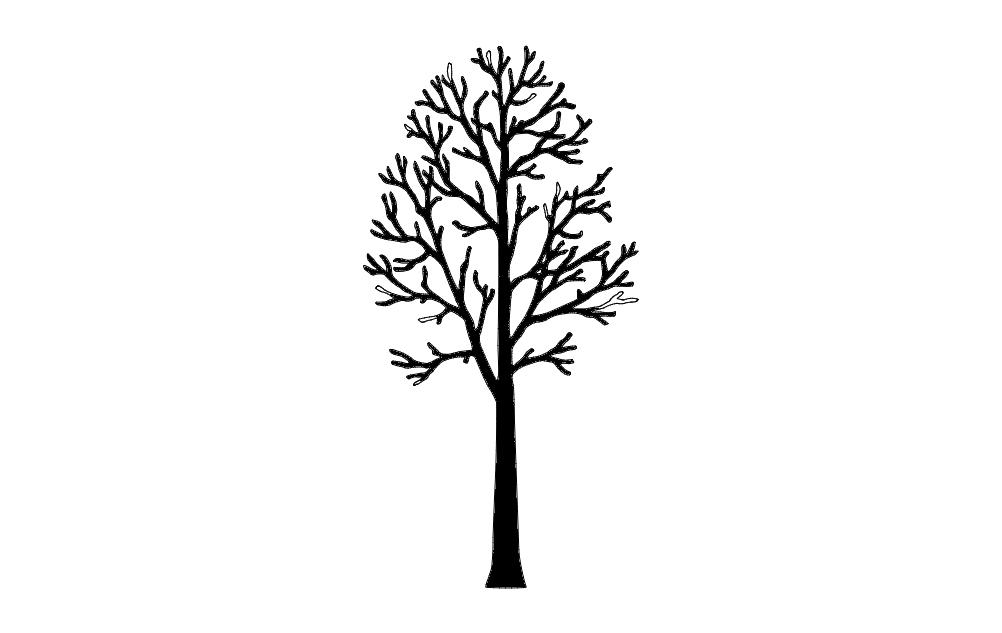 Tree Single Free DXF File