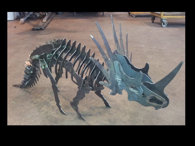Triceratops Dinosaur 3d Puzzle Free DXF File