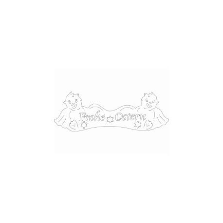 Tuerschild Kueken Frohe Ostern Free DXF File