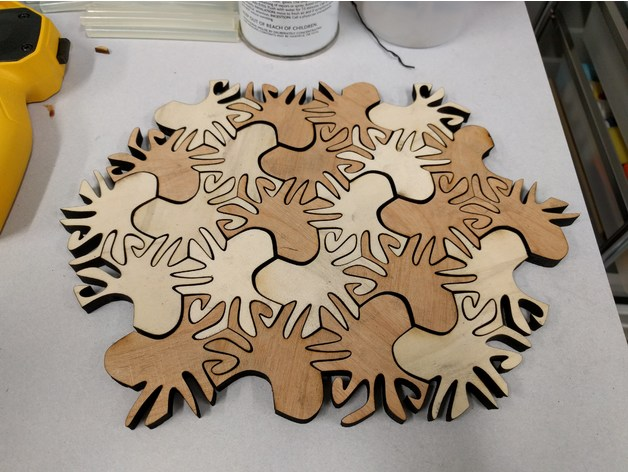 Tessellation Puzzle Free CDR Vectors Art
