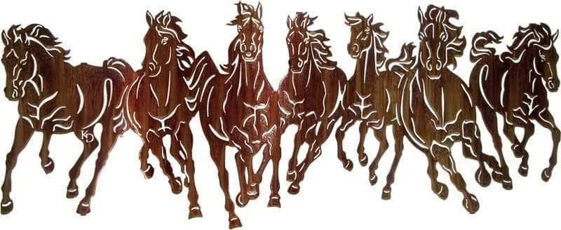 Wild Horses Free CDR Vectors Art